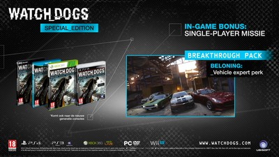 Watch Dogs Special Edition listed by Retailer in Netherlands