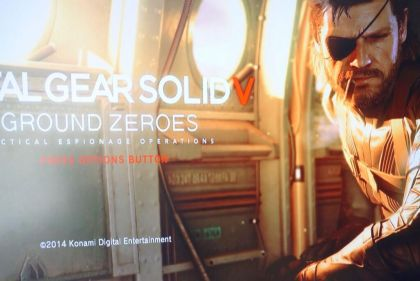 """Kojima Showcase MGS V: Ground Zeroes Running on PS4, Tweets """"Dashboard And Loading Screen"""" Image"""