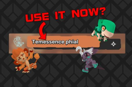 When to use the Temessence Phial in Temtem