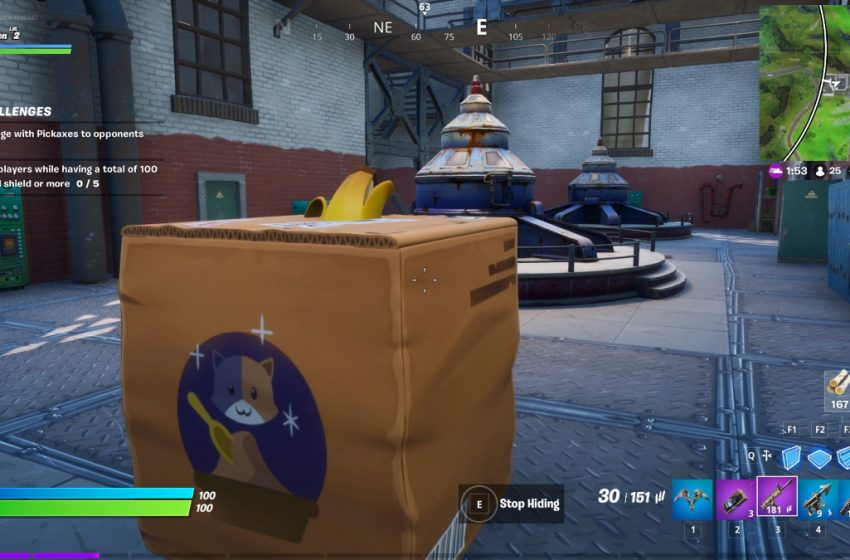 How to get and use cardboard boxes in Fortnite Chapter 2 Season 2