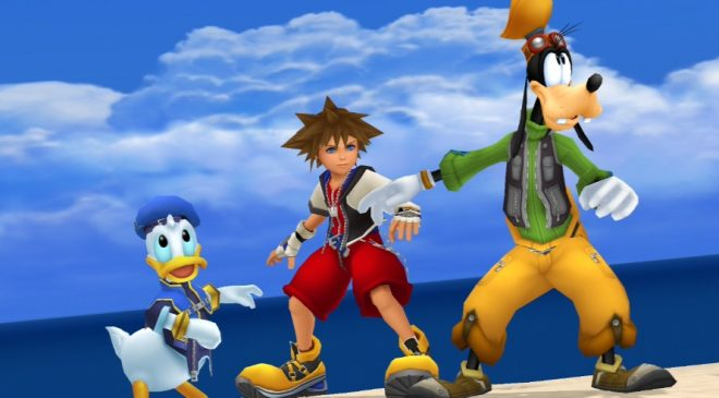 Kingdom Hearts Daffy, Goofy and Sora
