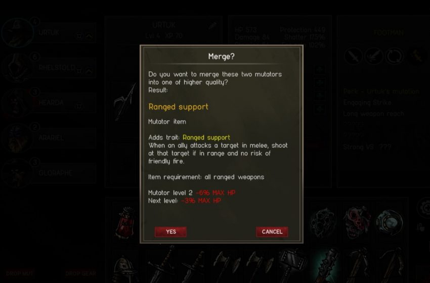 How to upgrade mutators in Urtuk: The Desolation
