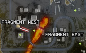 Fragments East & West on map